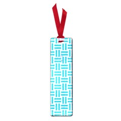 Woven1 White Marble & Turquoise Colored Pencil (r) Small Book Marks by trendistuff