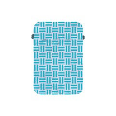 Woven1 White Marble & Turquoise Colored Pencil (r) Apple Ipad Mini Protective Soft Cases by trendistuff
