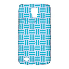 Woven1 White Marble & Turquoise Colored Pencil (r) Galaxy S4 Active by trendistuff