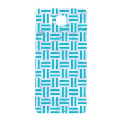 Woven1 White Marble & Turquoise Colored Pencil (r) Samsung Galaxy Alpha Hardshell Back Case