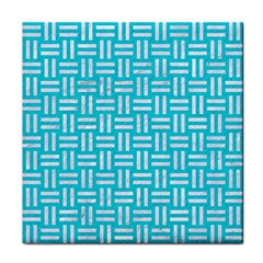 Woven1 White Marble & Turquoise Colored Pencil Face Towel by trendistuff