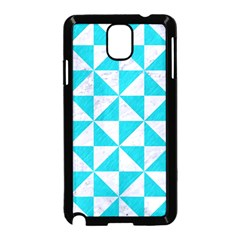Triangle1 White Marble & Turquoise Colored Pencil Samsung Galaxy Note 3 Neo Hardshell Case (black) by trendistuff
