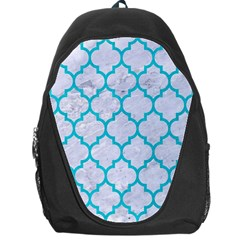 Tile1 White Marble & Turquoise Colored Pencil (r) Backpack Bag by trendistuff