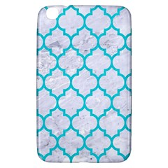 Tile1 White Marble & Turquoise Colored Pencil (r) Samsung Galaxy Tab 3 (8 ) T3100 Hardshell Case
