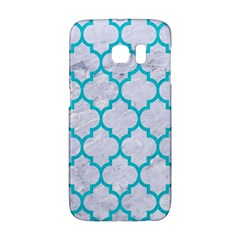Tile1 White Marble & Turquoise Colored Pencil (r) Galaxy S6 Edge by trendistuff