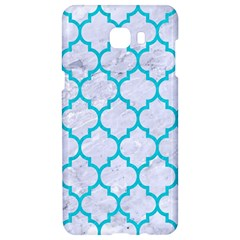 Tile1 White Marble & Turquoise Colored Pencil (r) Samsung C9 Pro Hardshell Case  by trendistuff