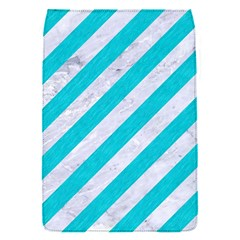 Stripes3 White Marble & Turquoise Colored Pencil (r) Flap Covers (s)  by trendistuff