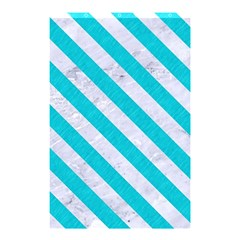 Stripes3 White Marble & Turquoise Colored Pencil Shower Curtain 48  X 72  (small)  by trendistuff