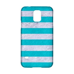 Stripes2white Marble & Turquoise Colored Pencil Samsung Galaxy S5 Hardshell Case  by trendistuff