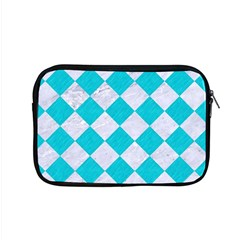 Square2 White Marble & Turquoise Colored Pencil Apple Macbook Pro 15  Zipper Case by trendistuff