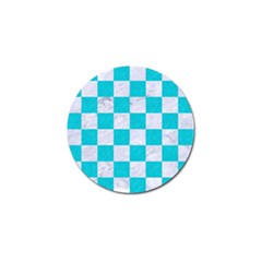 Square1 White Marble & Turquoise Colored Pencil Golf Ball Marker (10 Pack) by trendistuff