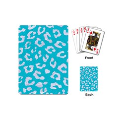 Skin5 White Marble & Turquoise Colored Pencil (r) Playing Cards (mini)  by trendistuff