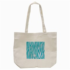 Skin4 White Marble & Turquoise Colored Pencil Tote Bag (cream)