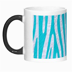 Skin4 White Marble & Turquoise Colored Pencil Morph Mugs by trendistuff