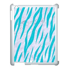 Skin3 White Marble & Turquoise Colored Pencil (r) Apple Ipad 3/4 Case (white) by trendistuff