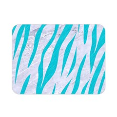 Skin3 White Marble & Turquoise Colored Pencil (r) Double Sided Flano Blanket (mini)  by trendistuff