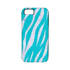Skin3 White Marble & Turquoise Colored Pencil Apple Iphone 5 Classic Hardshell Case (pc+silicone) by trendistuff