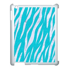 Skin3 White Marble & Turquoise Colored Pencil Apple Ipad 3/4 Case (white) by trendistuff