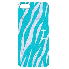 Skin3 White Marble & Turquoise Colored Pencil Apple Iphone 5 Hardshell Case With Stand by trendistuff