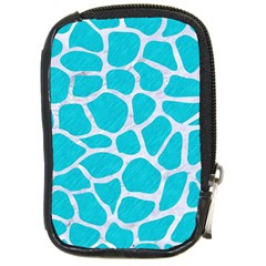 Skin1 White Marble & Turquoise Colored Pencil (r) Compact Camera Cases by trendistuff