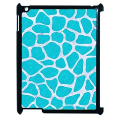 Skin1 White Marble & Turquoise Colored Pencil (r) Apple Ipad 2 Case (black) by trendistuff