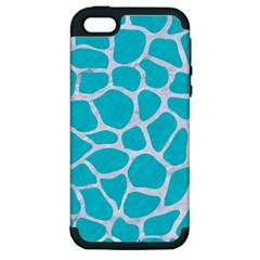 Skin1 White Marble & Turquoise Colored Pencil (r) Apple Iphone 5 Hardshell Case (pc+silicone) by trendistuff