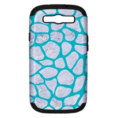 Skin1 White Marble & Turquoise Colored Pencil Samsung Galaxy S Iii Hardshell Case (pc+silicone) by trendistuff