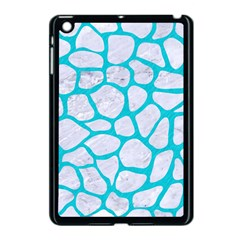 Skin1 White Marble & Turquoise Colored Pencil Apple Ipad Mini Case (black) by trendistuff