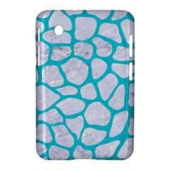 Skin1 White Marble & Turquoise Colored Pencil Samsung Galaxy Tab 2 (7 ) P3100 Hardshell Case  by trendistuff