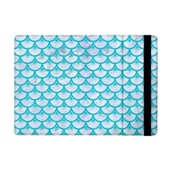 Scales3 White Marble & Turquoise Colored Pencil (r) Apple Ipad Mini Flip Case by trendistuff