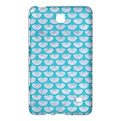Scales3 White Marble & Turquoise Colored Pencil (r) Samsung Galaxy Tab 4 (7 ) Hardshell Case  by trendistuff