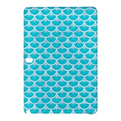 Scales3 White Marble & Turquoise Colored Pencil Samsung Galaxy Tab Pro 12 2 Hardshell Case by trendistuff