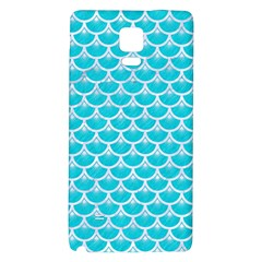 Scales3 White Marble & Turquoise Colored Pencil Galaxy Note 4 Back Case by trendistuff