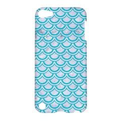 Scales2 White Marble & Turquoise Colored Pencil (r) Apple Ipod Touch 5 Hardshell Case by trendistuff