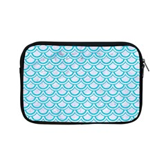Scales2 White Marble & Turquoise Colored Pencil (r) Apple Ipad Mini Zipper Cases by trendistuff