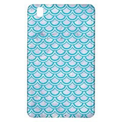 Scales2 White Marble & Turquoise Colored Pencil (r) Samsung Galaxy Tab Pro 8 4 Hardshell Case by trendistuff
