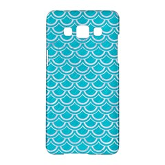 Scales2 White Marble & Turquoise Colored Pencil Samsung Galaxy A5 Hardshell Case  by trendistuff