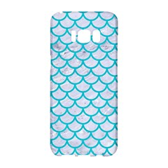 Scales1 White Marble & Turquoise Colored Pencil (r) Samsung Galaxy S8 Hardshell Case