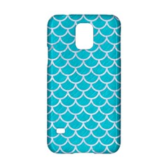 Scales1 White Marble & Turquoise Colored Pencil Samsung Galaxy S5 Hardshell Case  by trendistuff