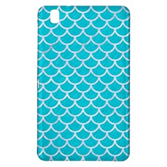 Scales1 White Marble & Turquoise Colored Pencil Samsung Galaxy Tab Pro 8 4 Hardshell Case by trendistuff