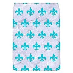 Royal1 White Marble & Turquoise Colored Pencil Flap Covers (l)  by trendistuff