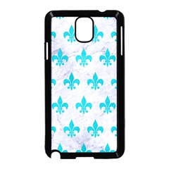 Royal1 White Marble & Turquoise Colored Pencil Samsung Galaxy Note 3 Neo Hardshell Case (black) by trendistuff