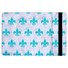 Royal1 White Marble & Turquoise Colored Pencil Ipad Air 2 Flip by trendistuff