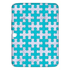 Puzzle1 White Marble & Turquoise Colored Pencil Samsung Galaxy Tab 3 (10 1 ) P5200 Hardshell Case  by trendistuff