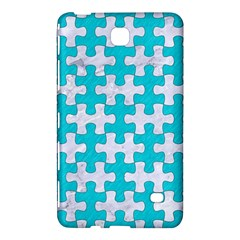 Puzzle1 White Marble & Turquoise Colored Pencil Samsung Galaxy Tab 4 (8 ) Hardshell Case  by trendistuff