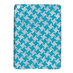Houndstooth2 White Marble & Turquoise Colored Pencil Ipad Air 2 Hardshell Cases by trendistuff