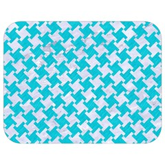 Houndstooth2 White Marble & Turquoise Colored Pencil Full Print Lunch Bag by trendistuff