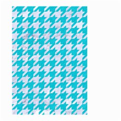 Houndstooth1 White Marble & Turquoise Colored Pencil Small Garden Flag (two Sides) by trendistuff