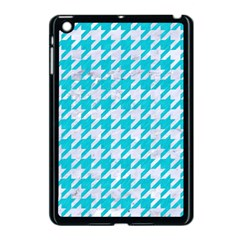 Houndstooth1 White Marble & Turquoise Colored Pencil Apple Ipad Mini Case (black) by trendistuff