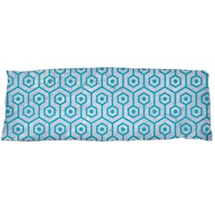Hexagon1 White Marble & Turquoise Colored Pencil (r) Body Pillow Case (dakimakura) by trendistuff